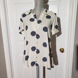 MODCLOTH NWT printed blouse